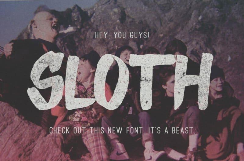 Sloth   шрифт скачать бесплатно