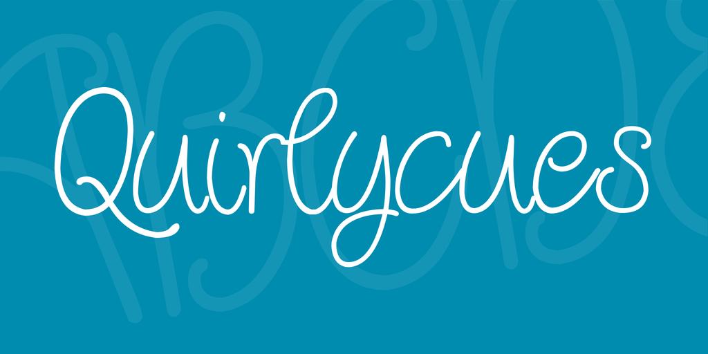 Quirlycues шрифт скачать бесплатно