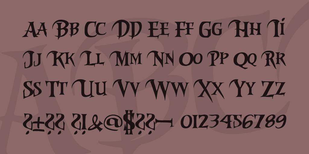Riky Vampdator Normal шрифт скачать бесплатно