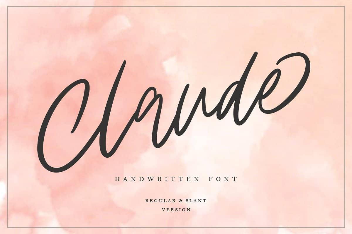 Claude Handwritten   шрифт скачать бесплатно