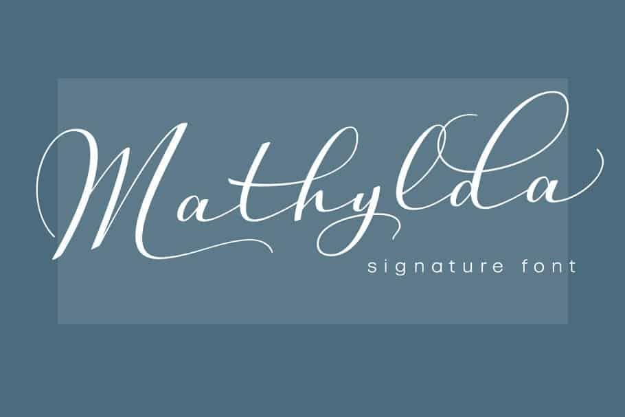 Mathylda Script шрифт скачать бесплатно