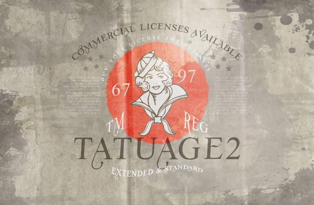 Vtks Tatuage 2 шрифт скачать бесплатно