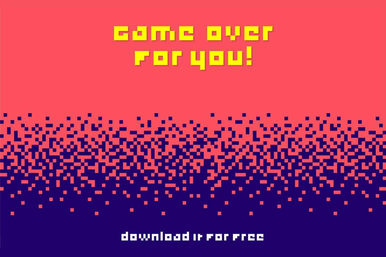 Game Over шрифт скачать бесплатно