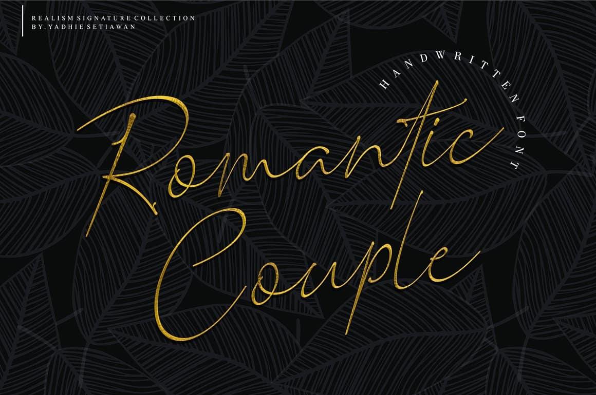 Romantic Couple шрифт скачать бесплатно