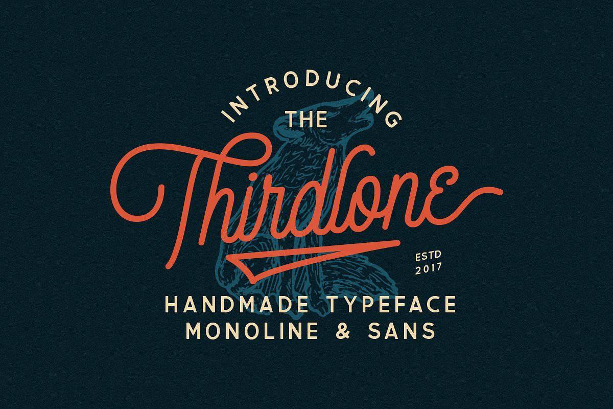 Thirdlone шрифт скачать бесплатно