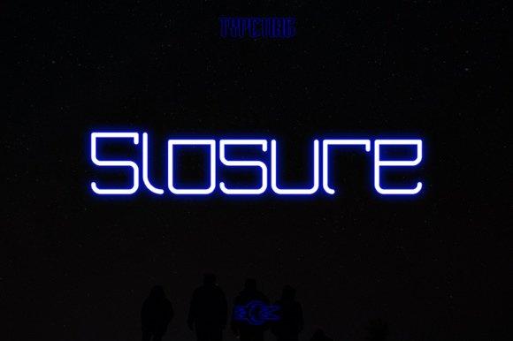 Slosure шрифт скачать бесплатно