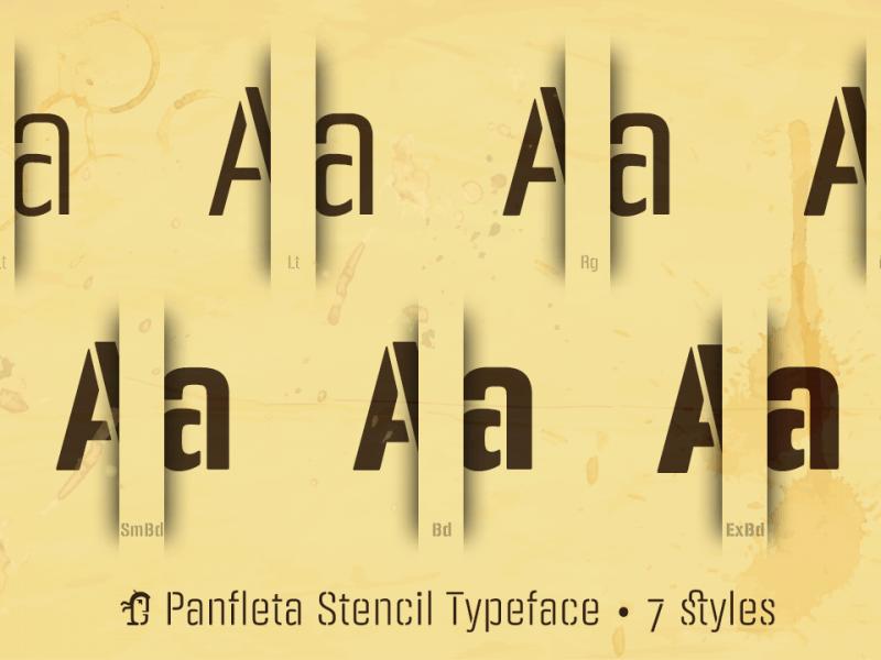 PANFLETA STENCIL шрифт скачать бесплатно