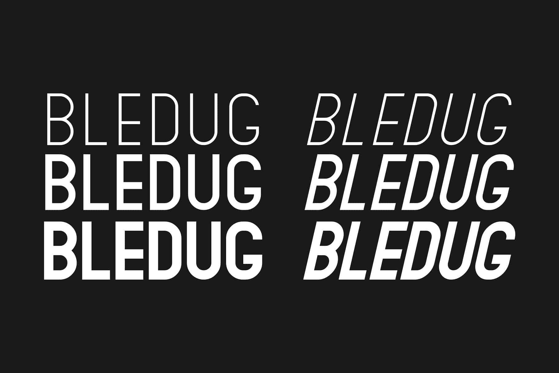Bledug шрифт скачать бесплатно