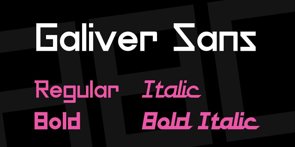 Galiver шрифт скачать бесплатно