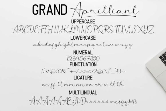 Grand Aprilliant шрифт скачать бесплатно