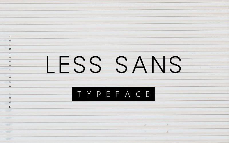 Less Sans Minimal шрифт скачать бесплатно