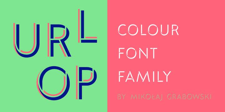URLOP Colour   Family шрифт скачать бесплатно