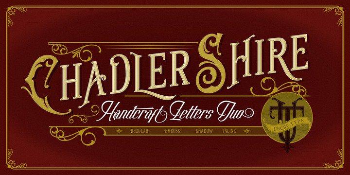Chadlershire шрифт скачать бесплатно