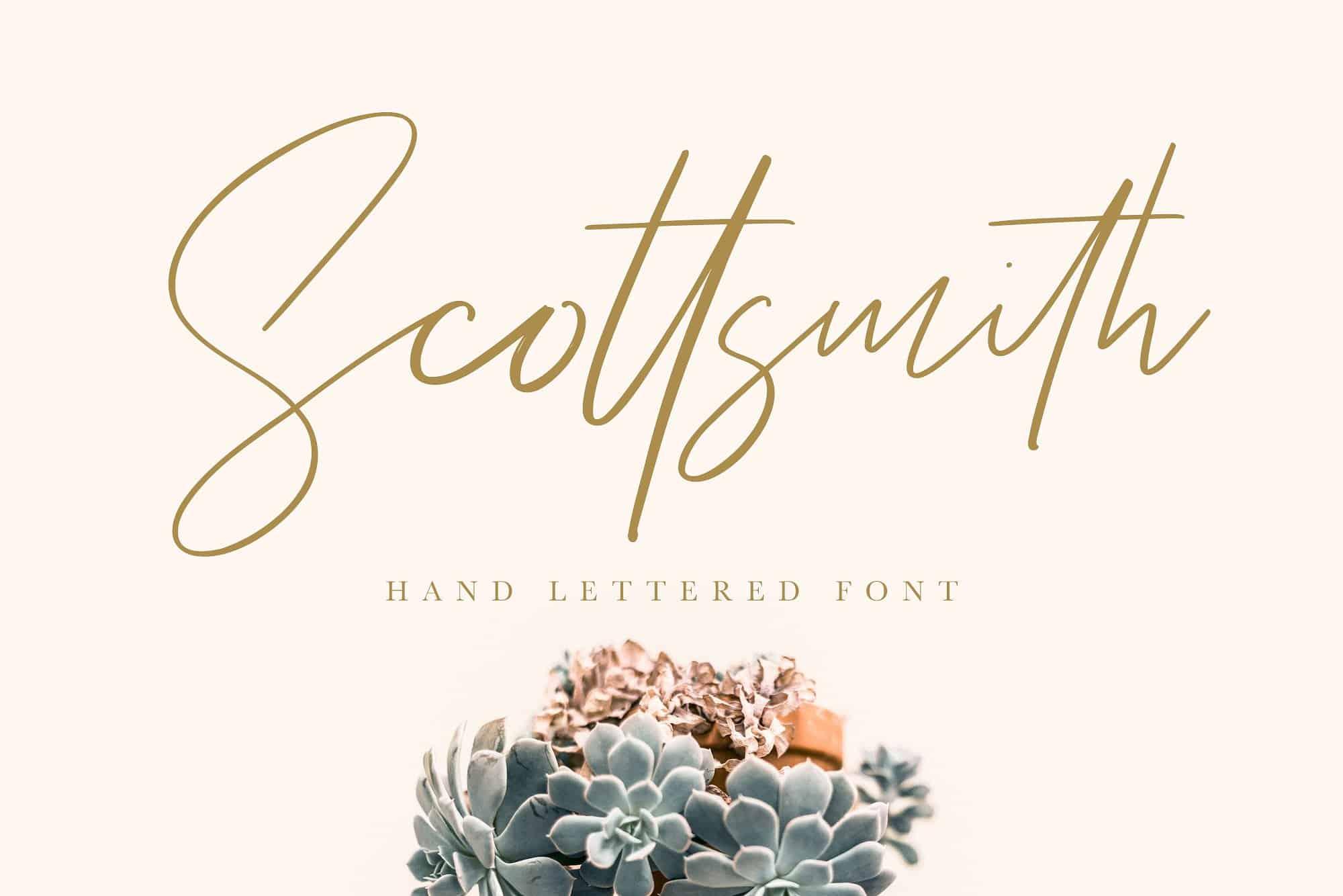 Scottsmith шрифт скачать бесплатно