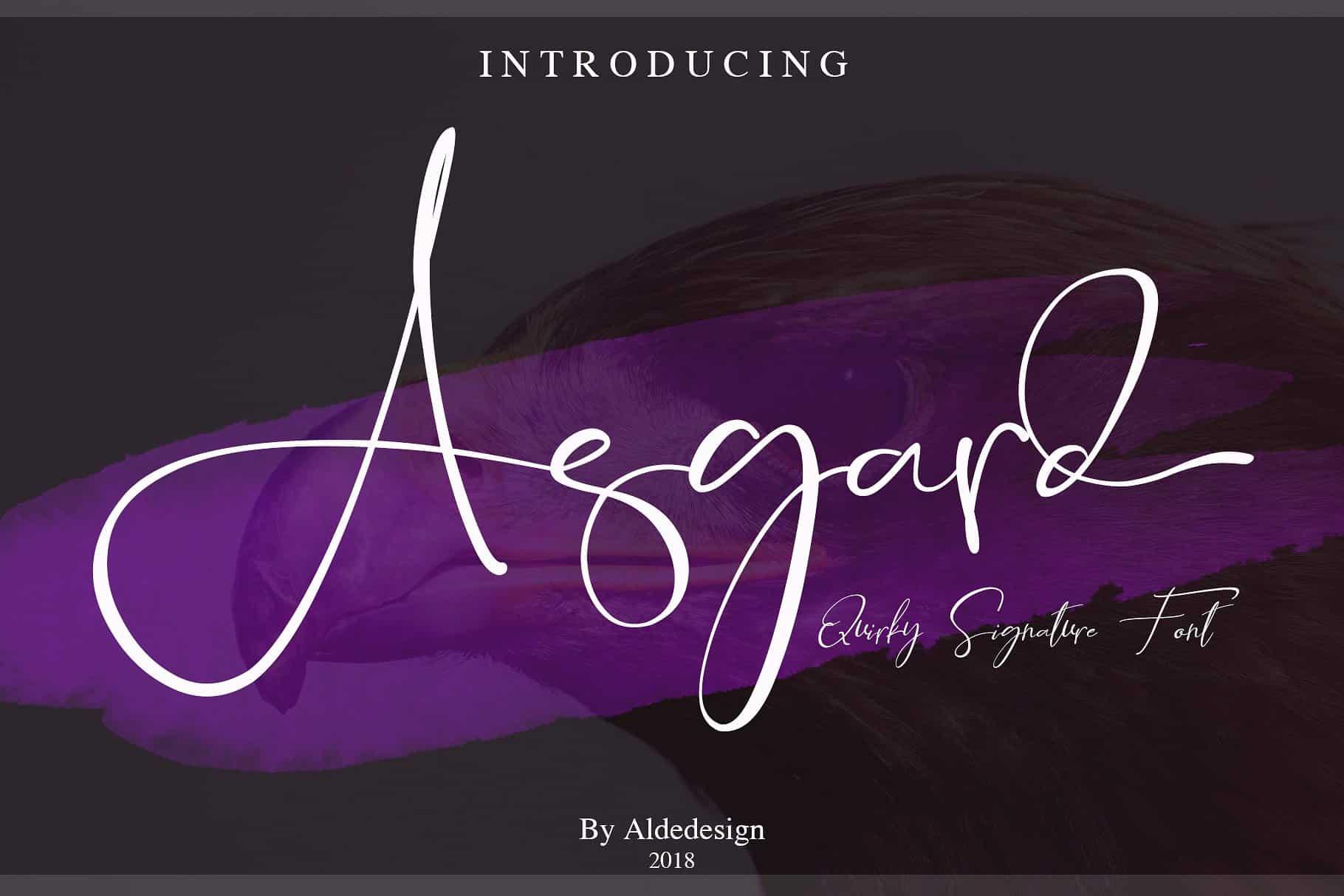 Asgard Signature шрифт скачать бесплатно