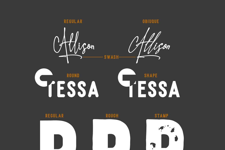Allison Tessa шрифт скачать бесплатно