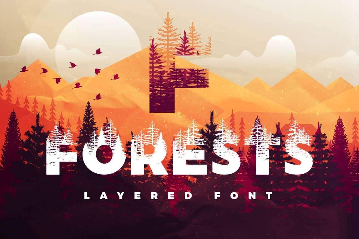 Forests шрифт скачать бесплатно