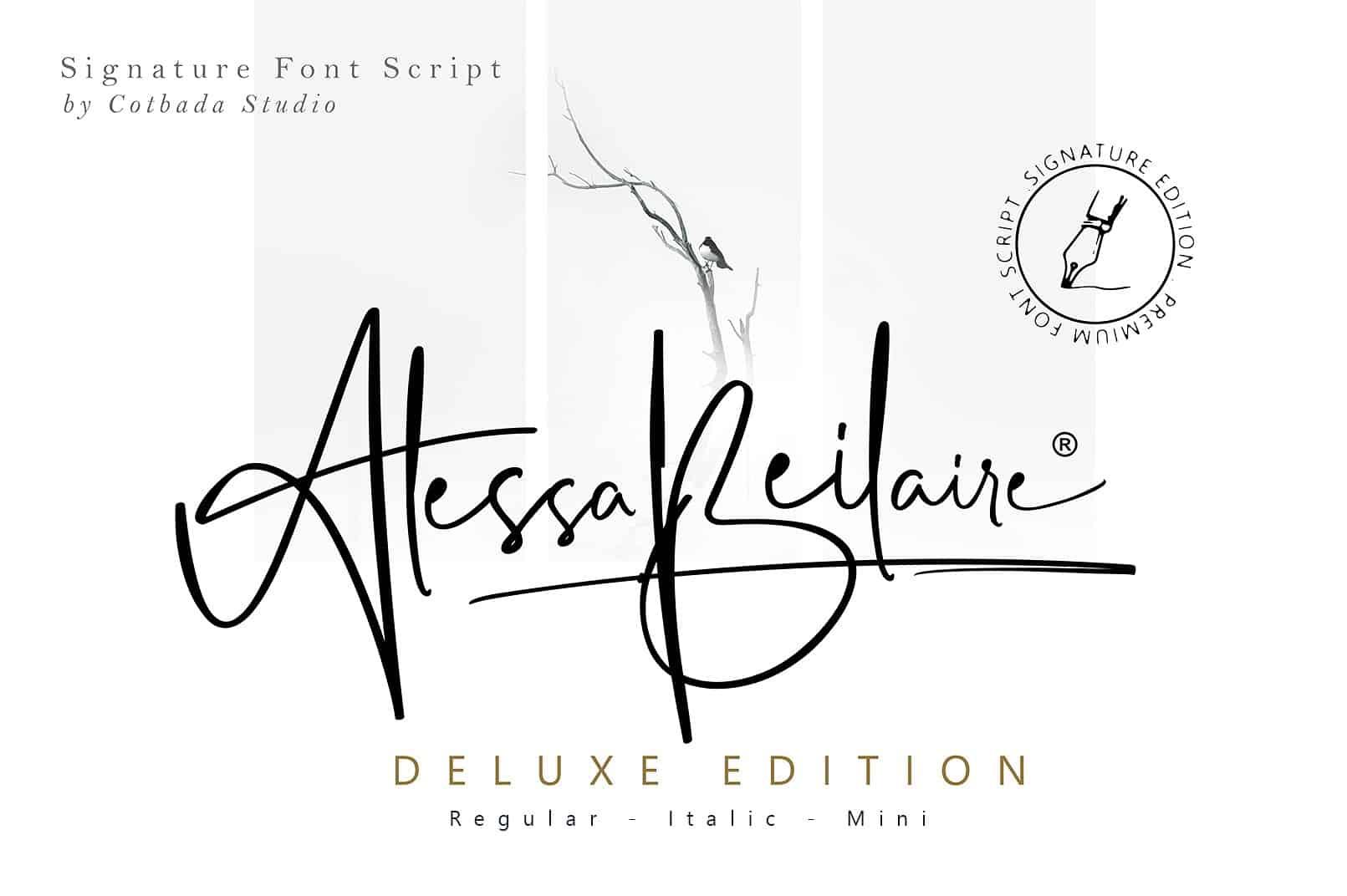 Alessa Beilaire шрифт скачать бесплатно