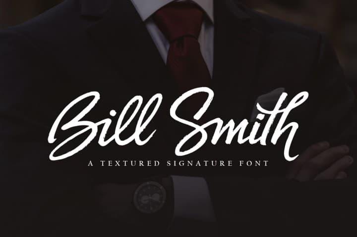 Bill Smith шрифт скачать бесплатно