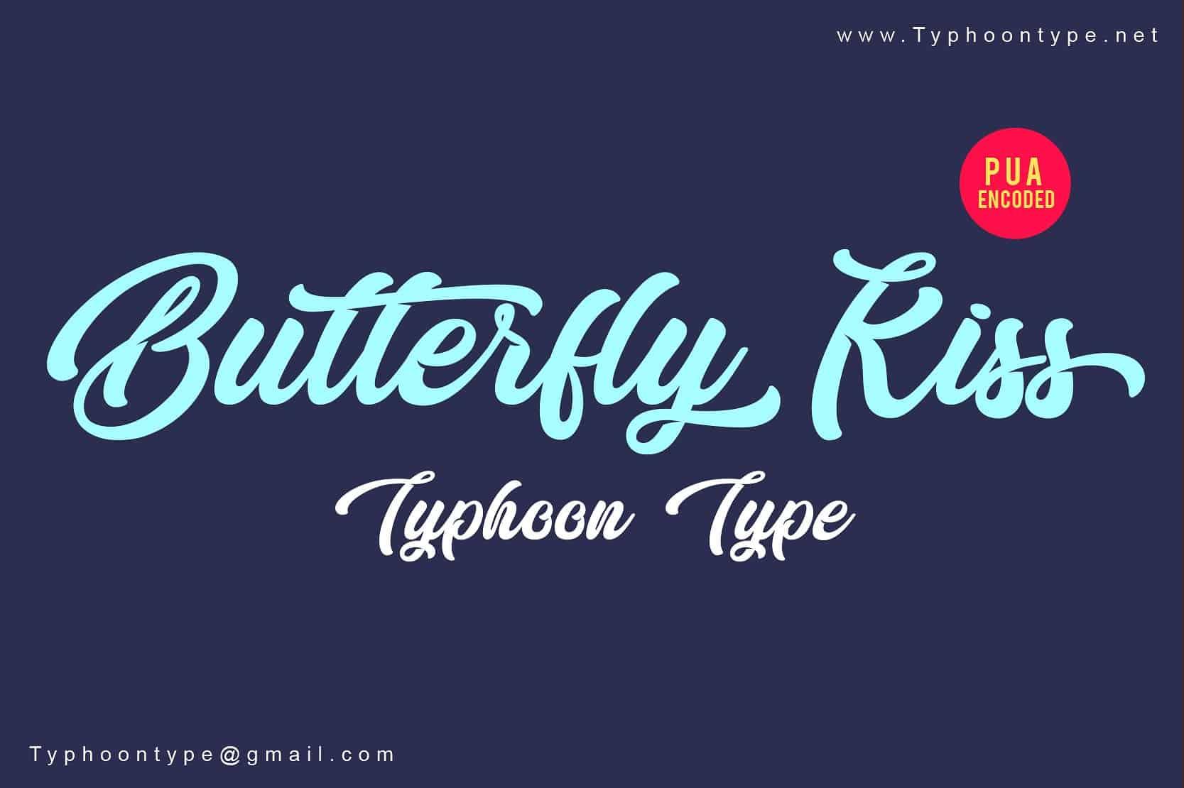 Butterfly Kiss шрифт скачать бесплатно