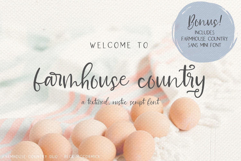 Farmhouse шрифт скачать бесплатно