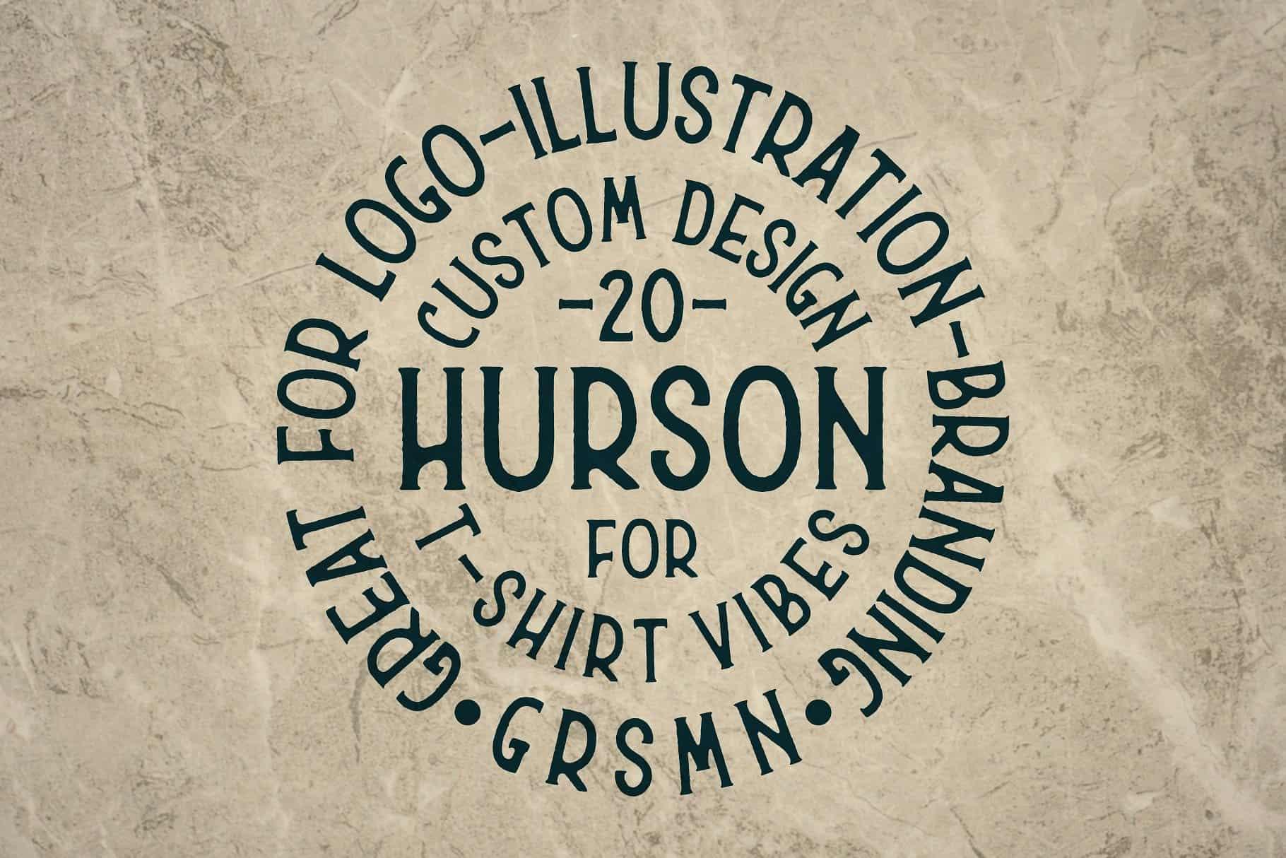 Hurson шрифт скачать бесплатно
