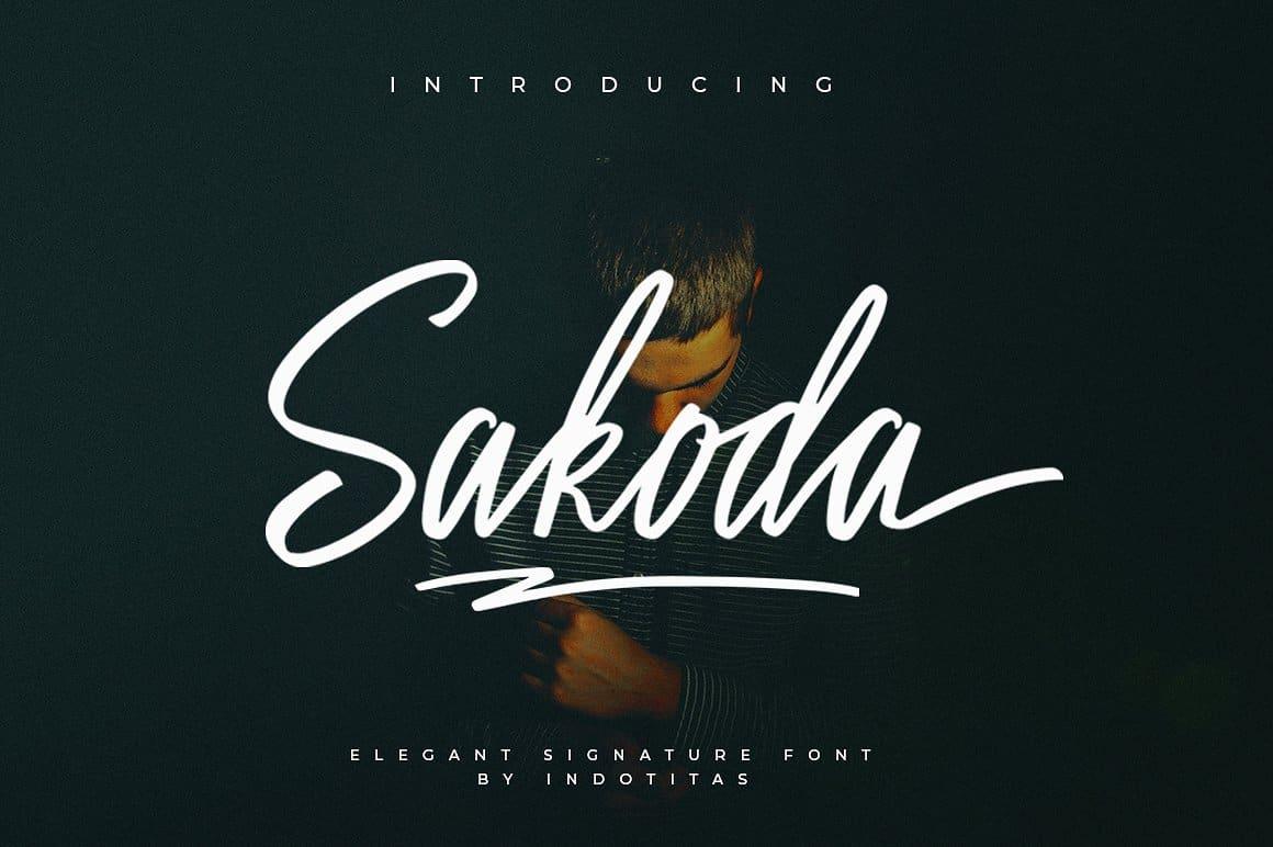 Sakoda шрифт скачать бесплатно
