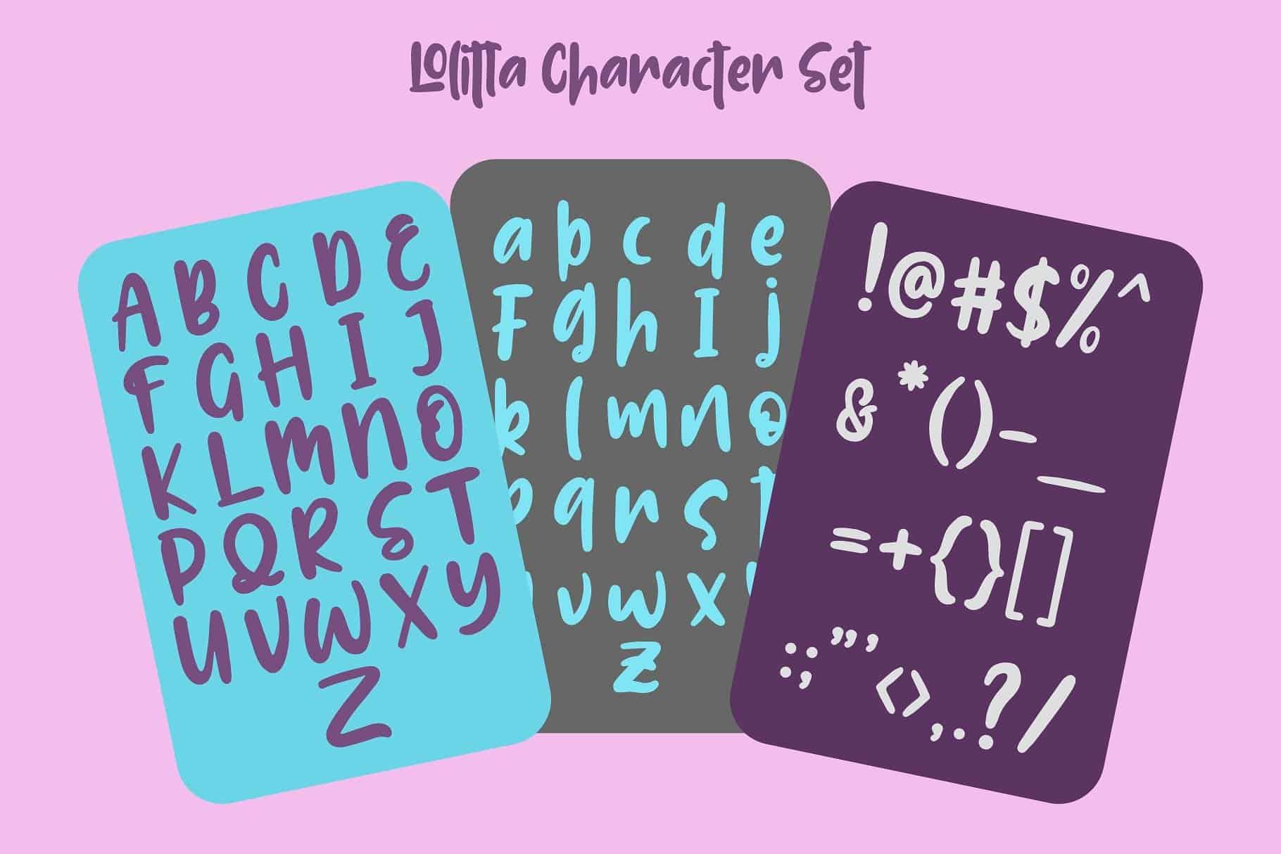 Lolitta Fun шрифт скачать бесплатно