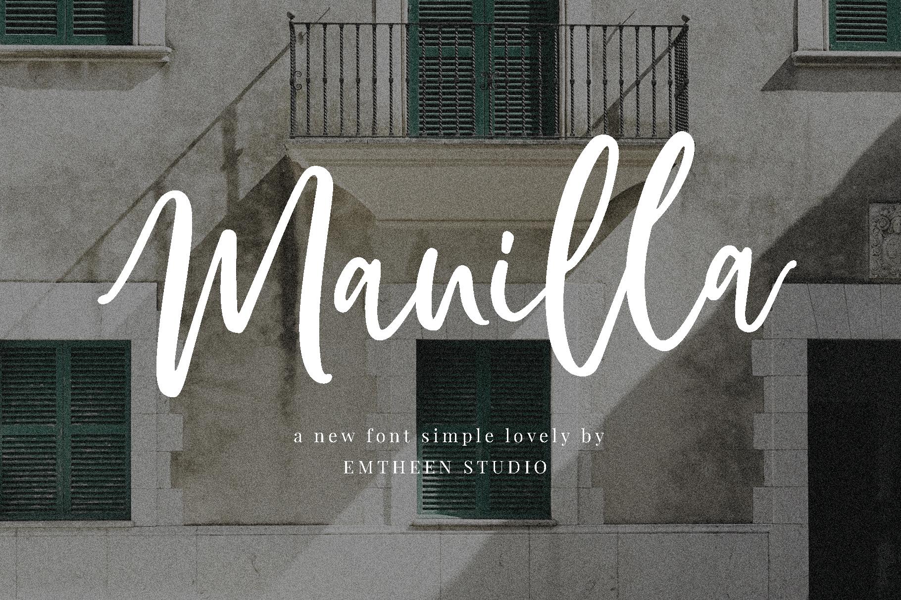 Manilla шрифт скачать бесплатно