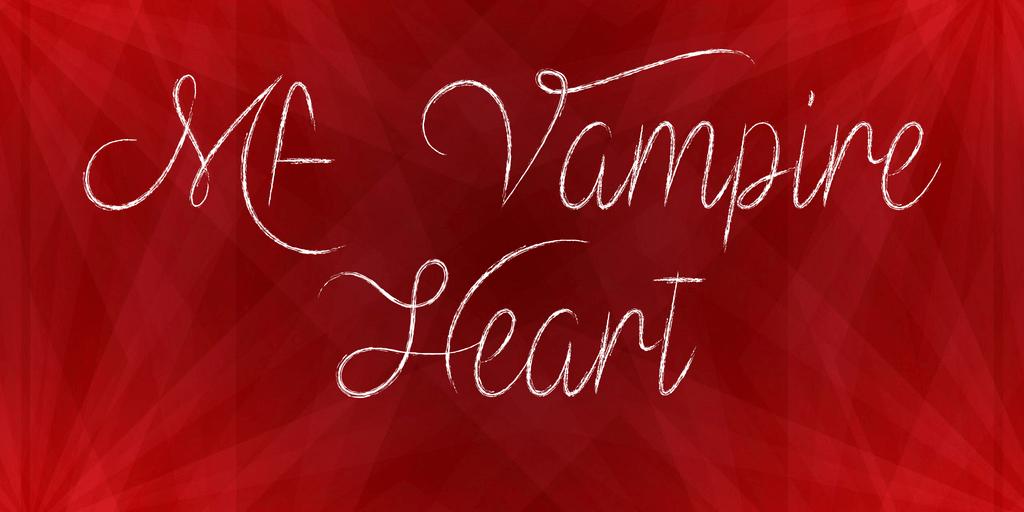 Mf Vampire Heart шрифт скачать бесплатно