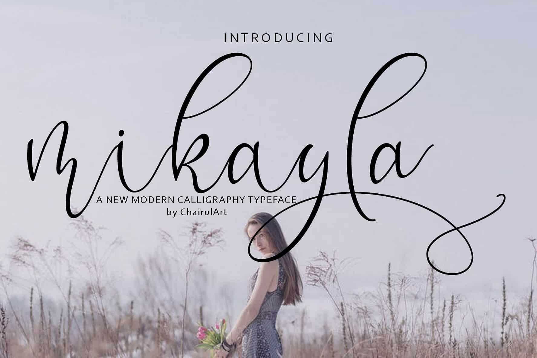 Mikayla шрифт скачать бесплатно