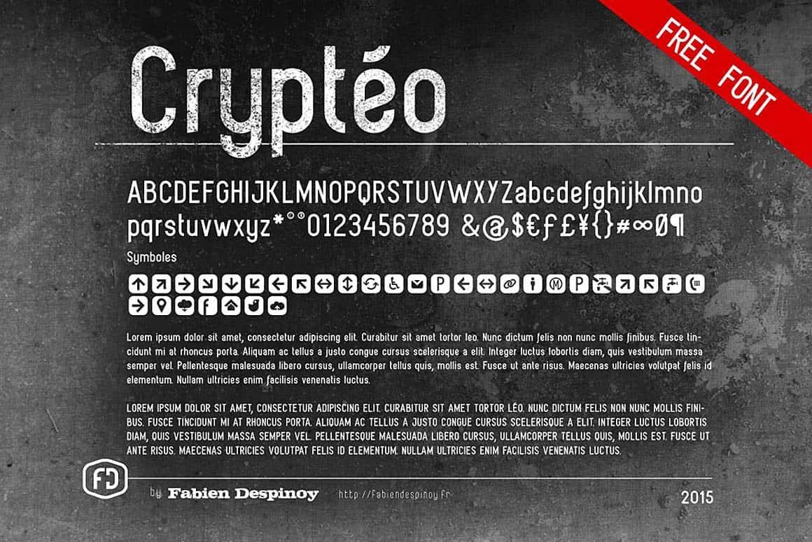 Crypteo шрифт скачать бесплатно