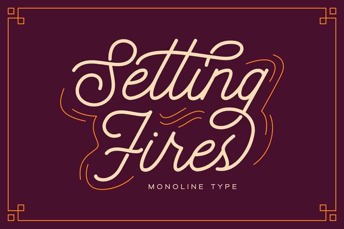 Seting Fires шрифт скачать бесплатно