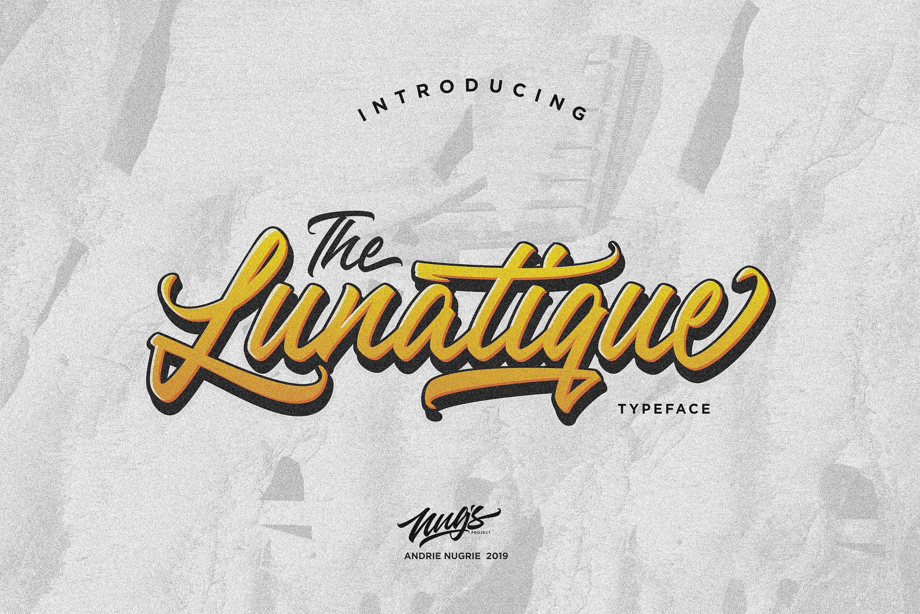 The Lunatique шрифт скачать бесплатно