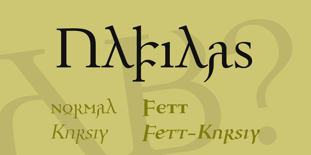 Ulfilas шрифт скачать бесплатно