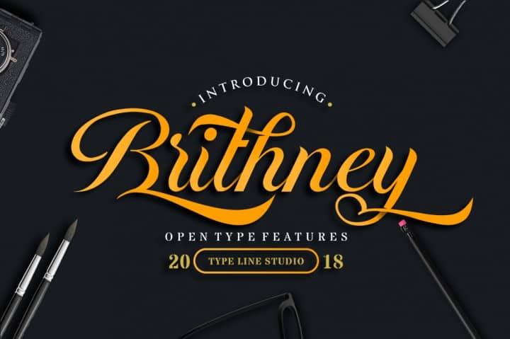 Brithney шрифт скачать бесплатно