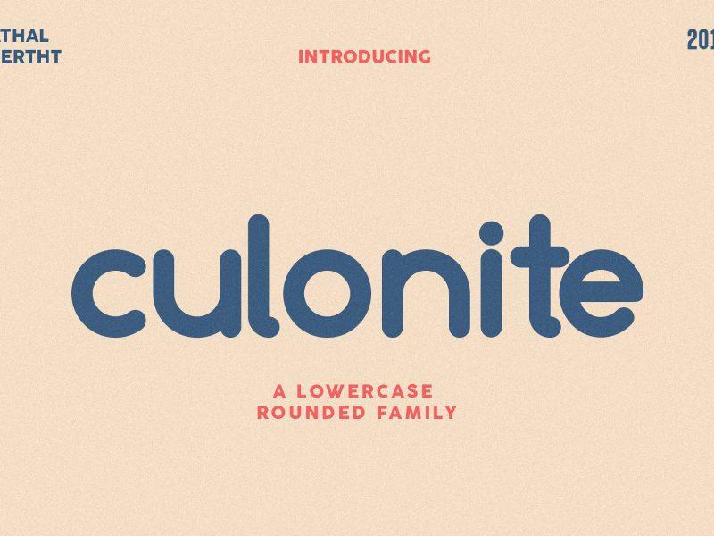 Culonite шрифт скачать бесплатно