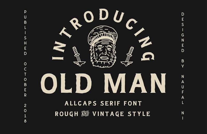 Old Man шрифт скачать бесплатно