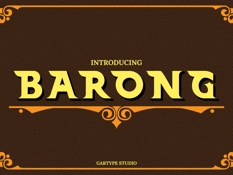 Barong шрифт скачать бесплатно