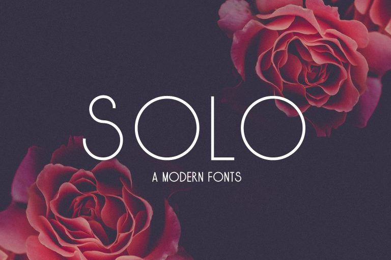 Solo шрифт скачать бесплатно