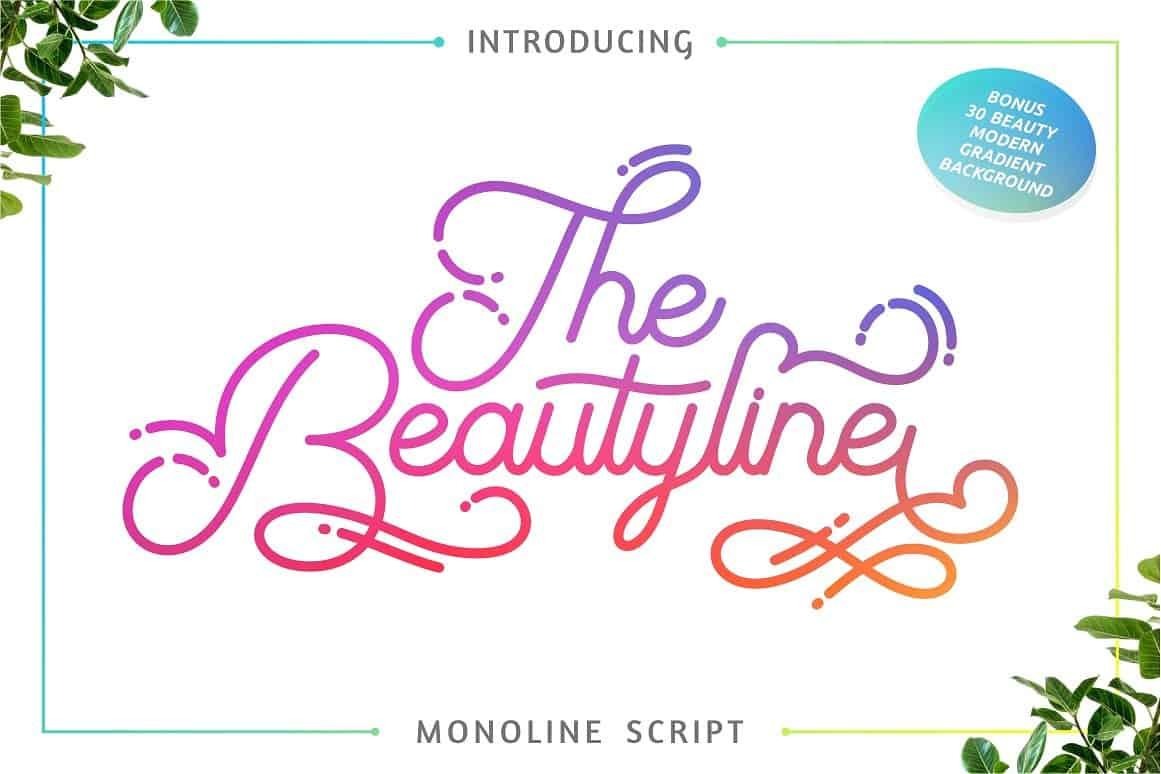 The Beautyline шрифт скачать бесплатно