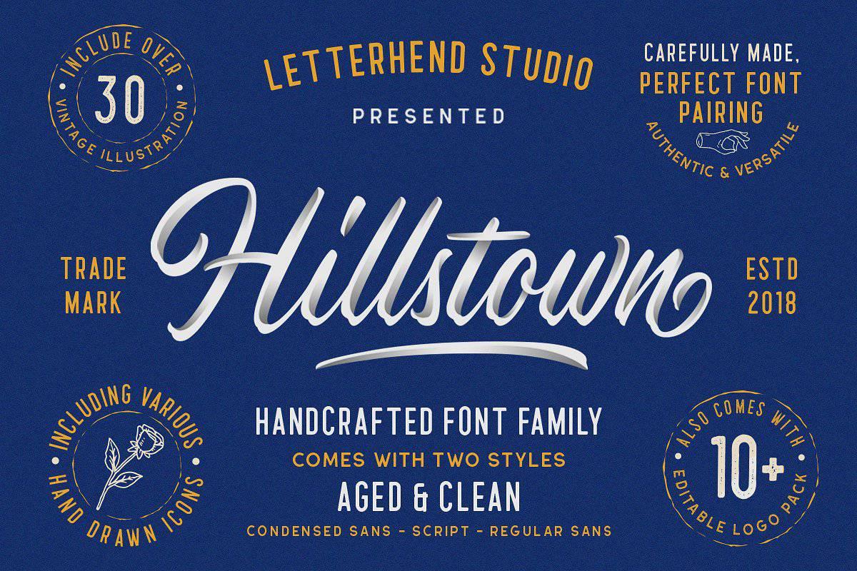 Hillstown шрифт скачать бесплатно