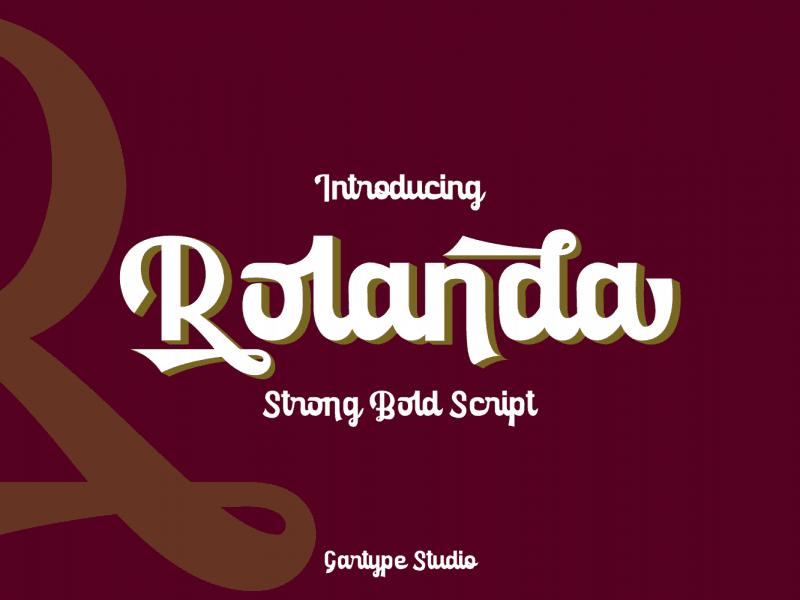 Rolanda шрифт скачать бесплатно