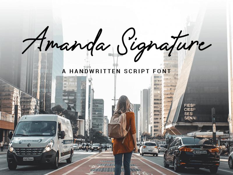 Amanda Signature шрифт скачать бесплатно