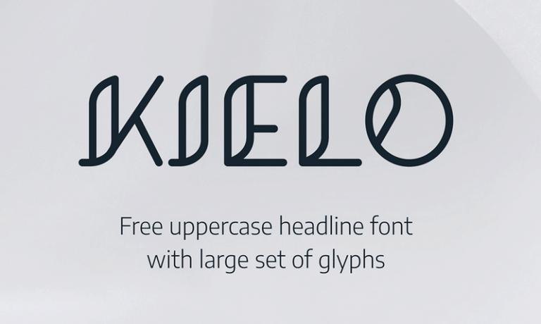 Kielo шрифт скачать бесплатно