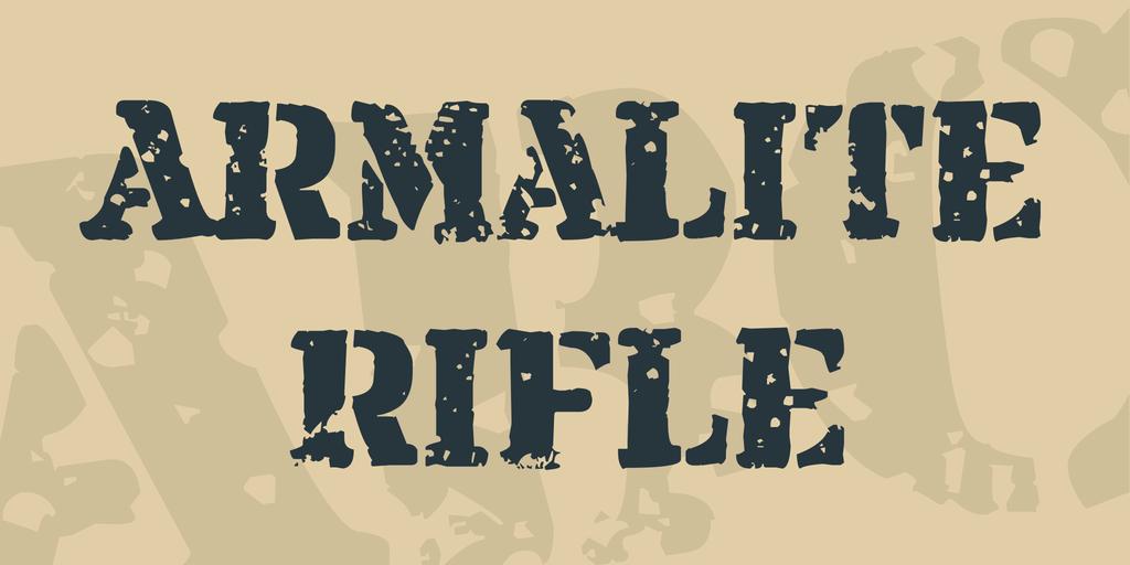 Armalite Rifle шрифт скачать бесплатно