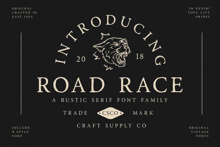 Road Race шрифт скачать бесплатно