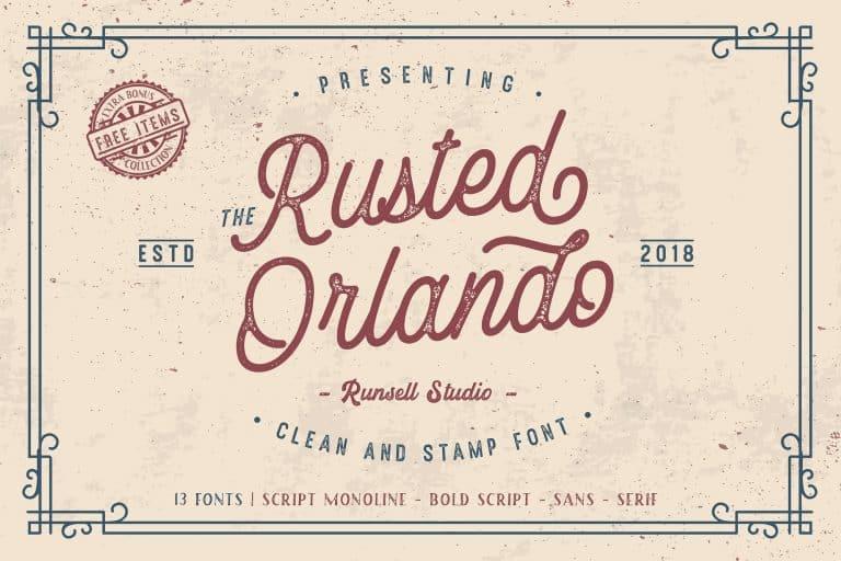 Rusted Orlando шрифт скачать бесплатно
