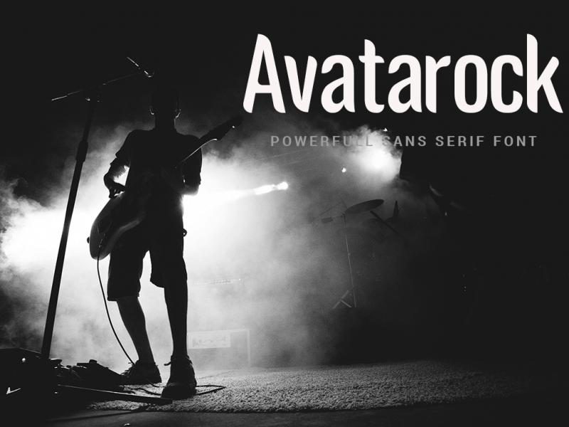 Avatarock шрифт скачать бесплатно
