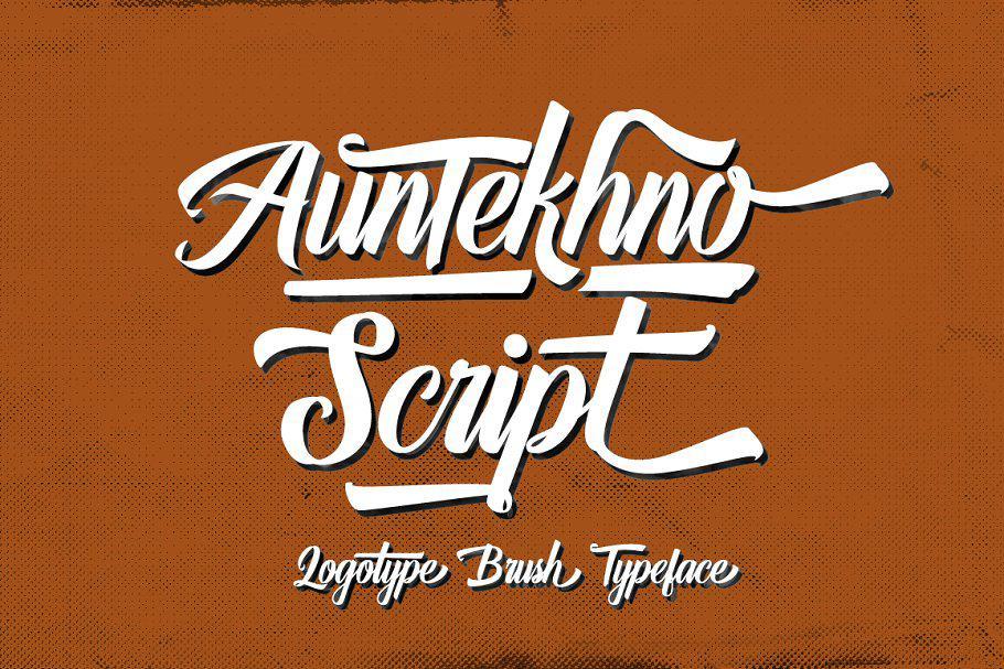 Auntekhno шрифт скачать бесплатно